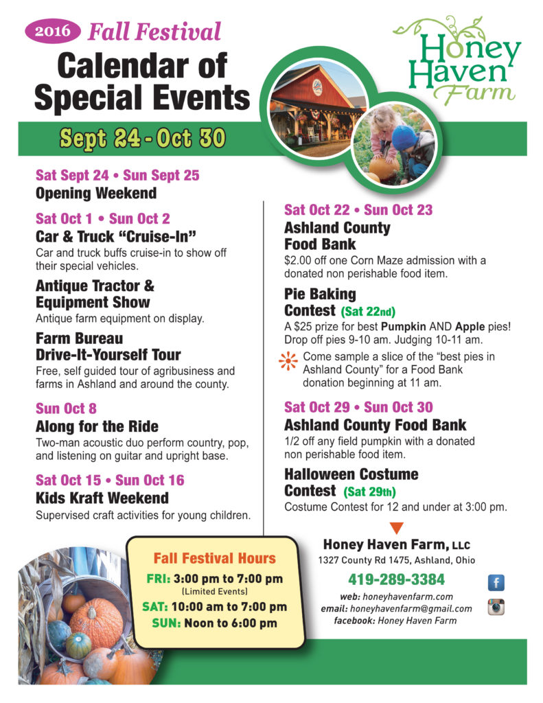 Image: Calendar of Events flyer